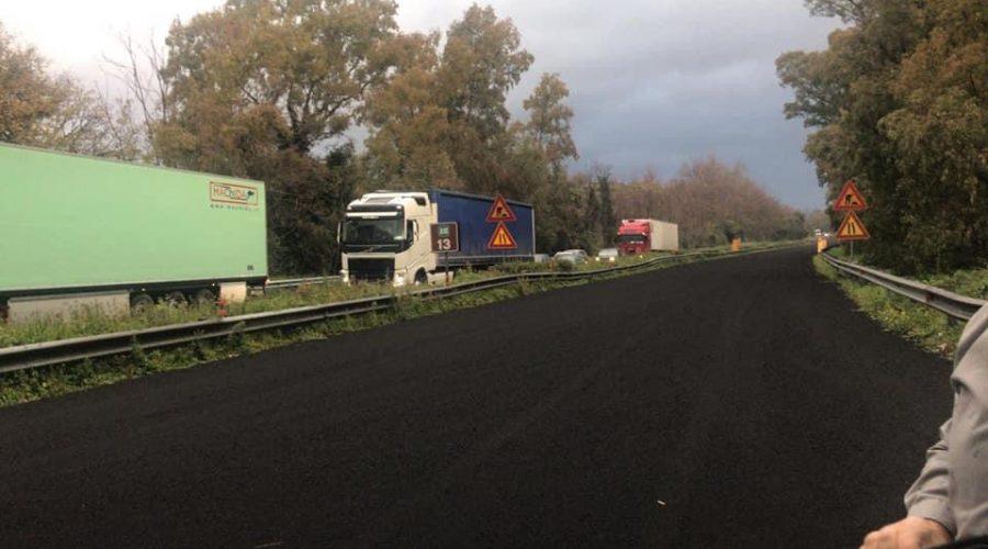 A18: cenere lavica tra Giarre e Fiumefreddo, riaperte due corsie e ancora sospeso il pedaggio