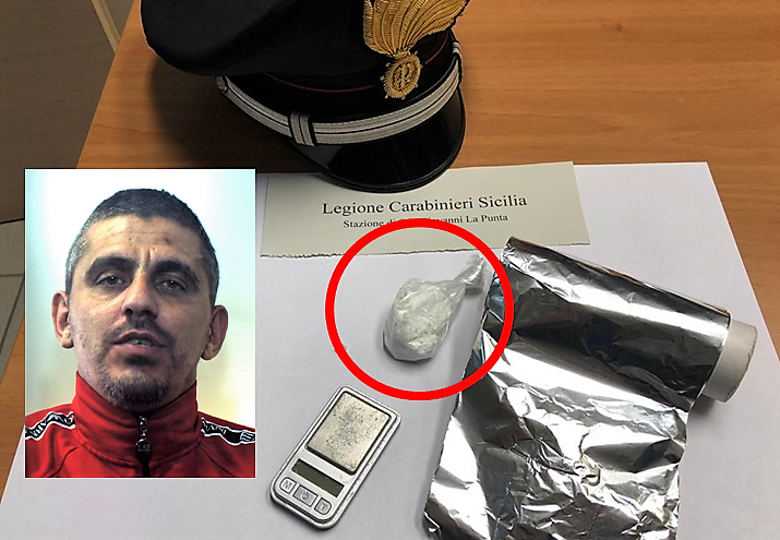 San Giovanni La Punta, condannato per droga continuava a spacciare cocaina dai domiciliari