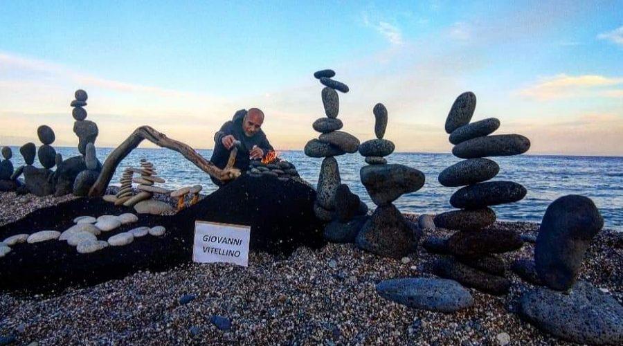 Il mascalese Giovanni Vitellino vince il World Rock Stacking 2021
