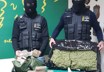 Sequestrati 165 kg di marijuana ad alto potenziale e hashish: tre arresti