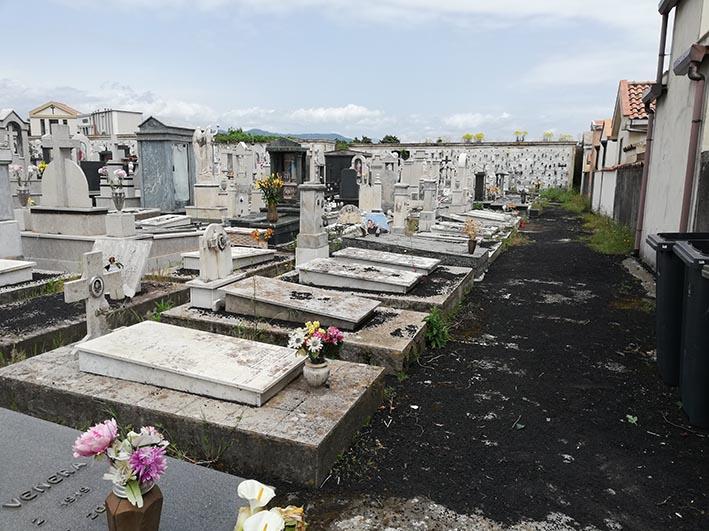 """Mascali, il cimitero """"sepolto"""" dalla cenere vulcanica. Il sindaco: """"spazzamento in corso"""""""