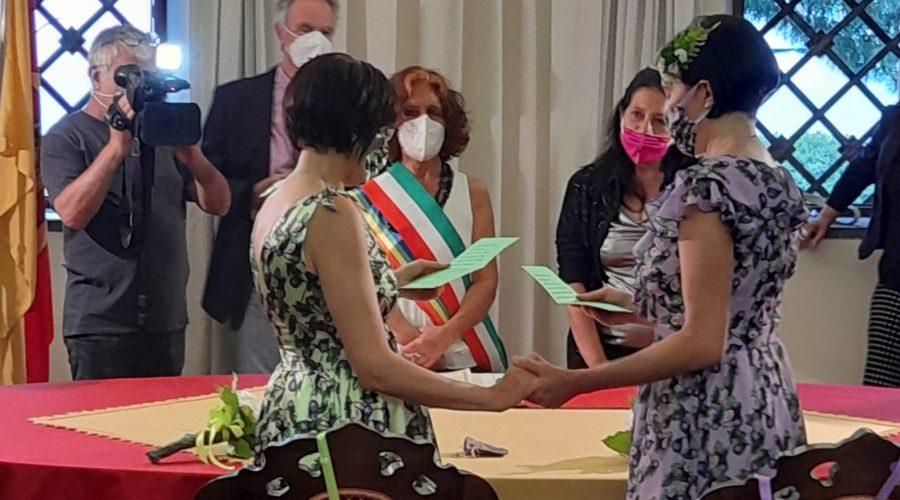 Santina e Chiara unite in matrimonio ad Acireale