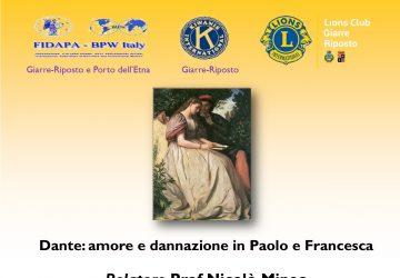 """Un Webinar Fidapa racconta """"Dante: amore e dannazione in Paolo e Francesca"""""""