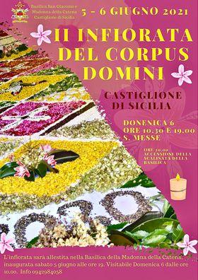 """Castiglione di Sicilia: sabato e domenica """"l'Infiorata del Corpus Domini"""""""
