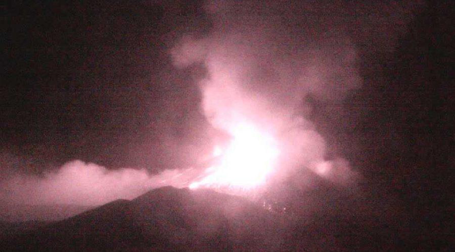 Etna, repentino incremento dell'attività stromboliana