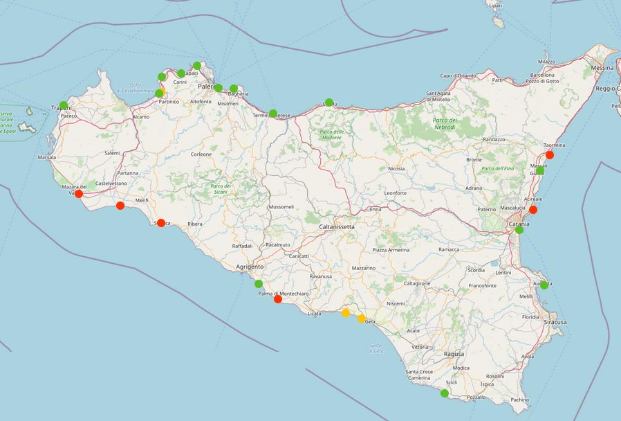 Presentati i giudizi di Goletta Verde sulle acque della Sicilia: 9 punti su 24 risultano oltre i limiti di legge