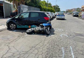Riposto, scontro auto-moto: ferito 57enne. Intervento dell'elisoccorso VD