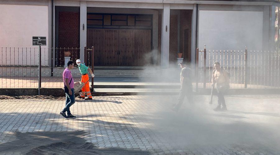 """Giarre, residenti """"abbattono"""" la burocrazia comunale: riqualificata l'area parrocchiale Regina Pacis VD"""