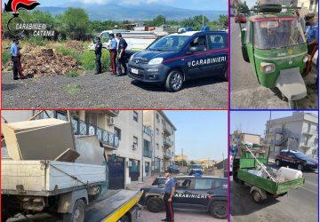 Catania, Giarre, Paternò e Caltagirone: controlli del trasporto di rifiuti. Raffica di denunce e sequestri