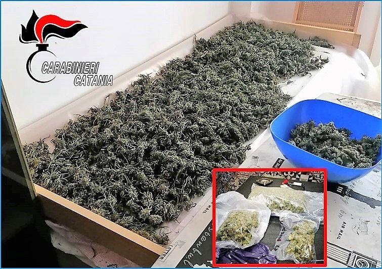 Spacciatore mascalese nascondeva in due alloggi a Giardini 9 chili di marijuana: arrestato