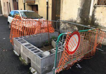Giarre, voragine via Ariosto: si lavora alla messa in sicurezza della strada