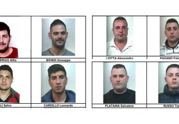 Giarre crocevia dello spaccio: operazione antidroga dei carabinieri. Otto arresti NOMI FOTO VIDEO