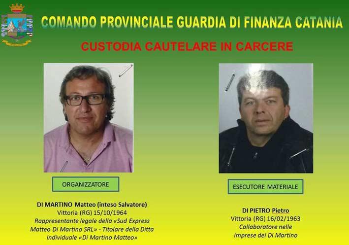 Vittoria, arrestati per estorsione da Gdf due autotrasportatori che operavano nel mercato