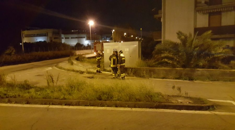 Giarre, fuga di gas in via Gorizia (Jungo). Sul posto i vigili del fuoco